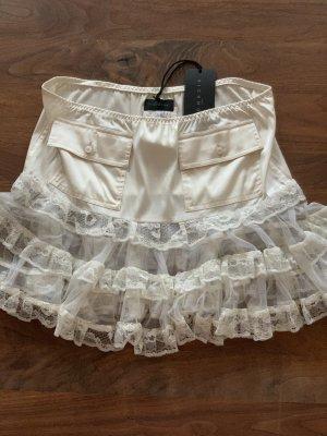John Richmond Miniskirt natural white silk