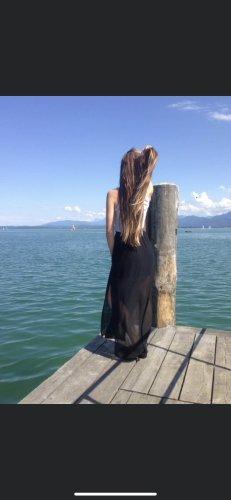 H&M Jedwabna spódnica czarny