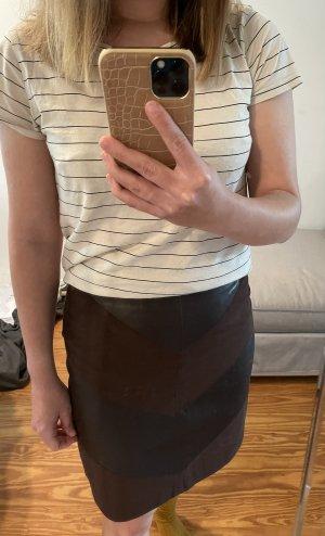 Orsay Asymetryczna spódniczka czarno-brązowy