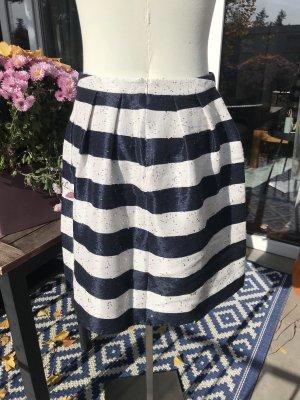 Barbara Schwarzer Flared Skirt white-dark blue