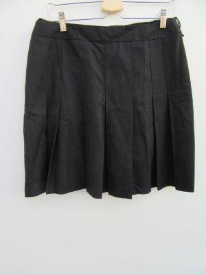 Rock Damen schwarz Falten Vintage Retro Gr. 40