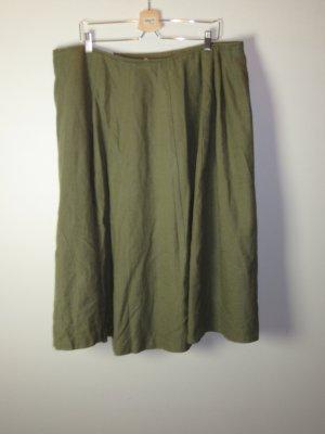 Vintage Lniana spódnica zielony