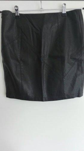 Noisy May Jupe en cuir synthétique noir