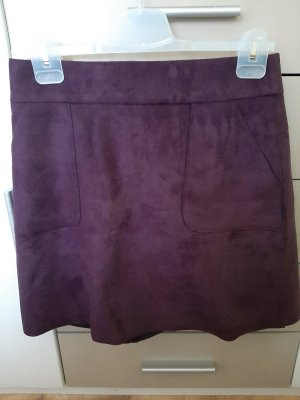 Mint&berry Asymmetry Skirt brown violet-dark violet