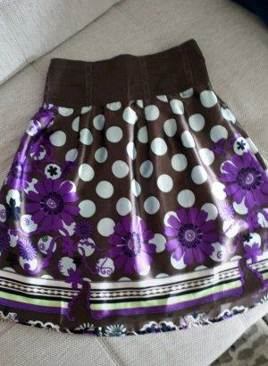 Dept Jedwabna spódnica ciemny fiolet