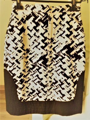 Longchamp Gonna a tubino nero-beige Cotone