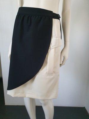 Fürnkranz Jupe portefeuille noir-blanc cassé