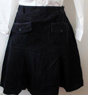 Cyrillus Plaid Skirt dark blue cotton
