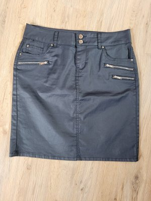 Orsay Faux Leather Skirt dark blue