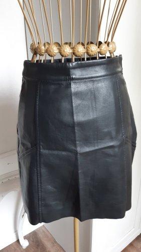 H&M Spódnica z imitacji skóry czarny