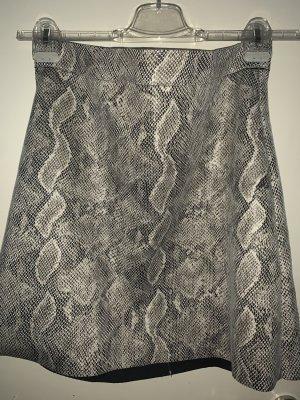 Only Minigonna grigio chiaro-bianco