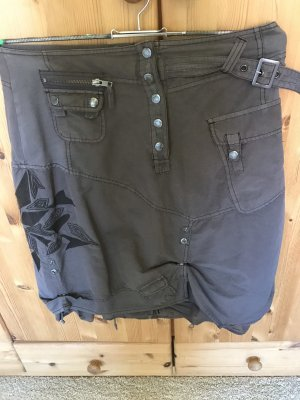 nü by staff-woman Jupe cargo gris anthracite