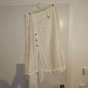 Falda de lino blanco