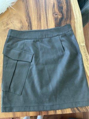 Yaya Leather Skirt dark brown