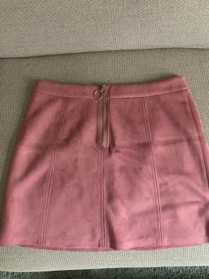 edc Faux Leather Skirt pink