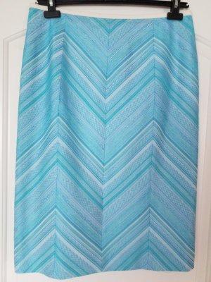 Escada Asymmetry Skirt natural white-turquoise