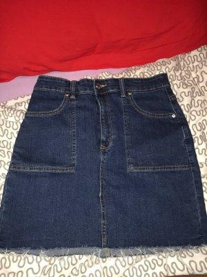 Pull & Bear Gonna di jeans blu