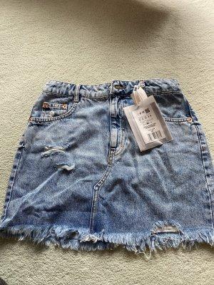 Pull & Bear Gonna di jeans blu fiordaliso