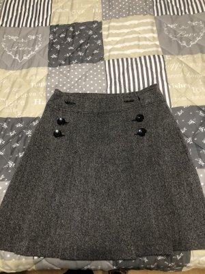 Yessica Mini rok zwart-donkergrijs Viscose