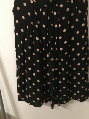 Laura Torelli Flared Skirt black-sand brown viscose