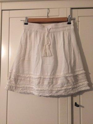 H&M Fringed Skirt white