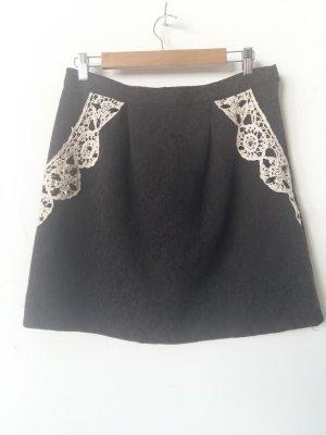 Darling Wollen rok zwart-wit Wol