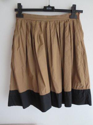 Vicolo Plaid Skirt light brown-black cotton