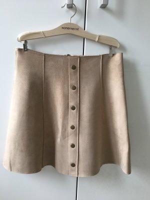 Amisu Jupe à plis beige