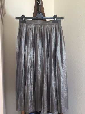 Boohoo Plaid Skirt silver-colored
