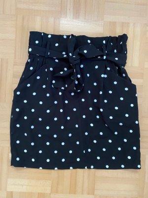 Amisu Miniskirt black-white