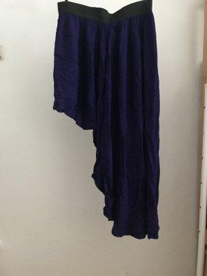 Forever 21 Spódnica midi czarny-niebiesko-fioletowy