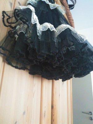 markenloses Tulle Skirt black-oatmeal polyester
