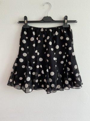 Midi Skirt black-white
