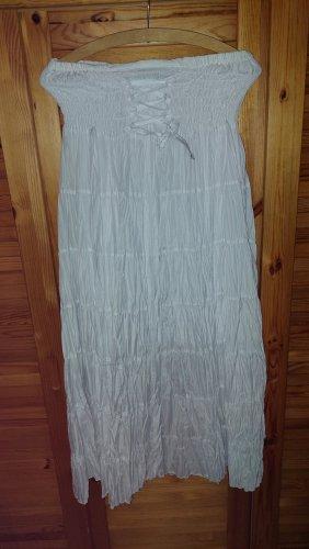 100% Fashion Linen Skirt white