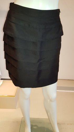 H&M Falda con volantes negro