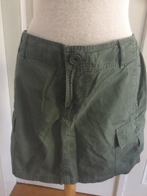Hennes Collection by H&M Jupe cargo gris vert