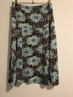 Signature Stretch Skirt black-turquoise
