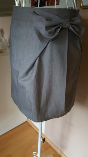 Keine Marke Jupe taille haute gris polyester