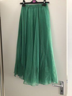 Tiulowa spódnica zielony-leśna zieleń