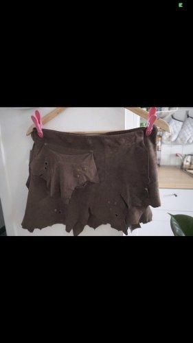 Keine Marke Asymmetry Skirt black brown
