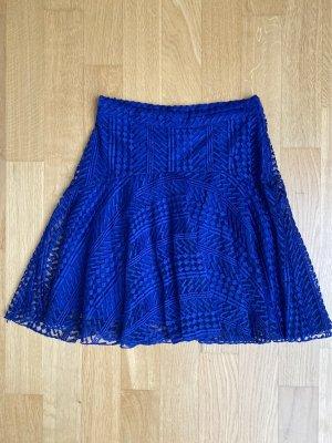 H&M Jupe à plis bleu