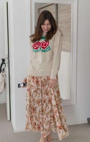 H&M Jupe plissée rose chair-crème