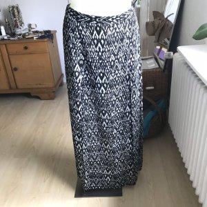 H&M Jupe longue noir-blanc