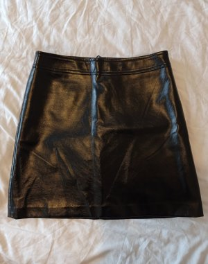 Hallhuber Faux Leather Skirt black