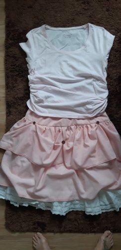 Warstwowa spódnica różowy Bawełna