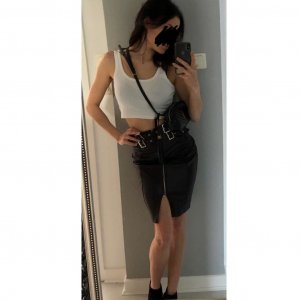 Rock high waist basic  schnallen studded