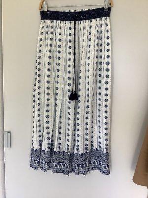 Springfield Maxi Skirt white-blue