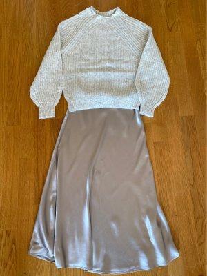 H&M Jupe en soie gris brun