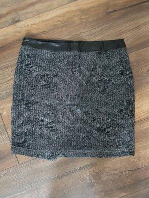 Vero Moda Falda asimétrica negro-gris oscuro
