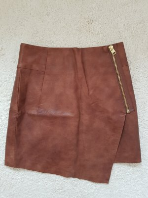 H&M Faux Leather Skirt multicolored viscose